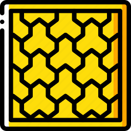 build, construction, paving, supplies, yellow icon
