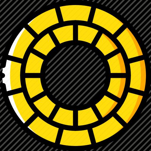 circular, construction, garden, landscape, paving icon