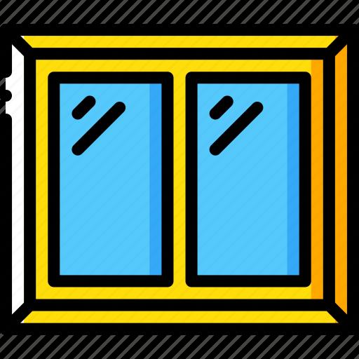 build, construction, develop, structure, window icon