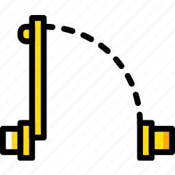 construction, door, plan, yellow icon
