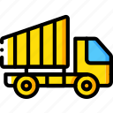 construction, dumper, machinery, transport, truck icon
