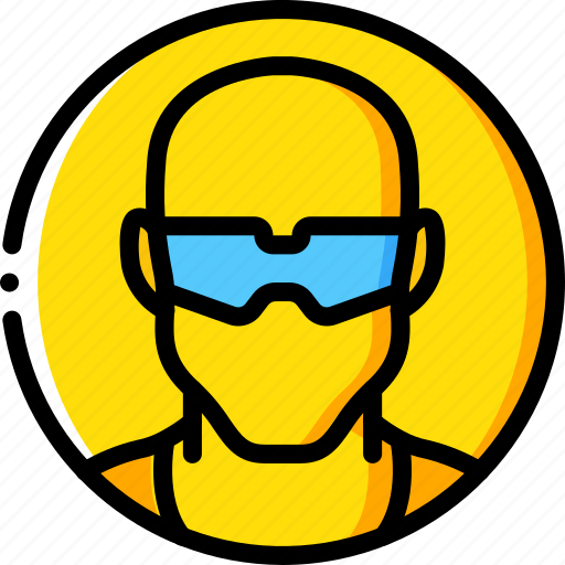 construction glasses ppe protect saftey icon