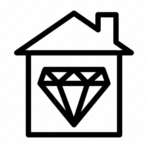 Building, construction, diamond, home, house icon - Download on Iconfinder