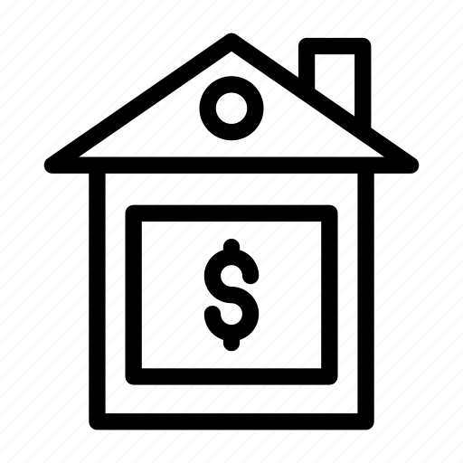 building, construction, dollar, home, house icon