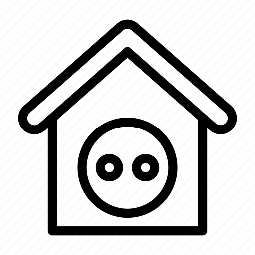 connector, home, house, plugin, socket icon