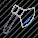 axe, cut, equipment, hatchet, tools