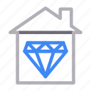 building, construction, diamond, home, house