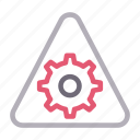 cogwheel, construction, gear, setting, sign