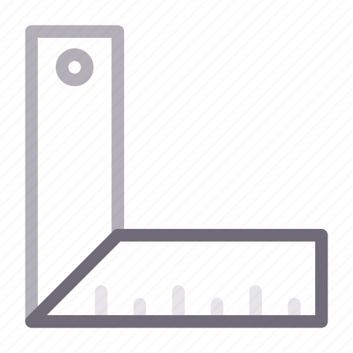 construction, equipment, measure, ruler, tools icon
