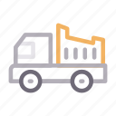 construction, dumper, tools, truck, vehicle icon