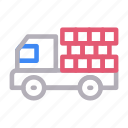 construction, lorry, transport, truck, vehicle icon