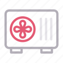 ac, appliances, electronics, fan, ventilator icon
