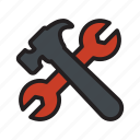 construction, hammer, repair, tool, wrench