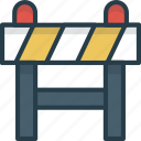 barrier, block, construction, road, stop, under icon icon