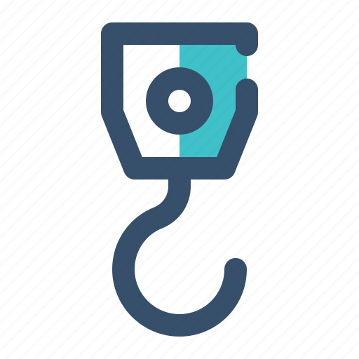 Hook, crane, tool, construction icon - Download on Iconfinder