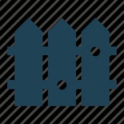 border, construction, farm, fence, garden, solid, wooden fence icon