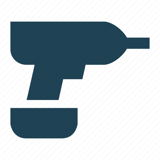 drill, electric drill, hand tool, handyman, solid, tool icon