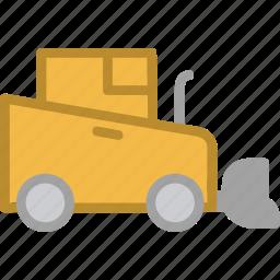 bulldozer, construction, vehicle, work icon