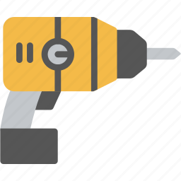 drill, electric, machine, service, tool, work icon