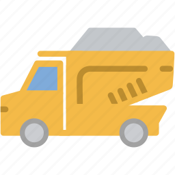 construction, dump, garbage, mining, truck icon