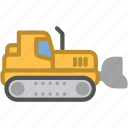 bulldozer, construction, vehicle, work icon