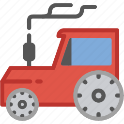 agriculture, farmer, tractor, transport, village icon