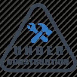 badge, construction, sticker, under construction, under icon icon