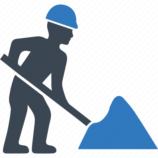 dig, digging, sign, under construction icon