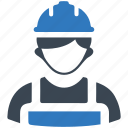builder, constructor, helmet, worker icon