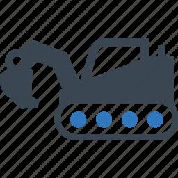 construction, crane, digger, excavator, machine, vehicle, work icon