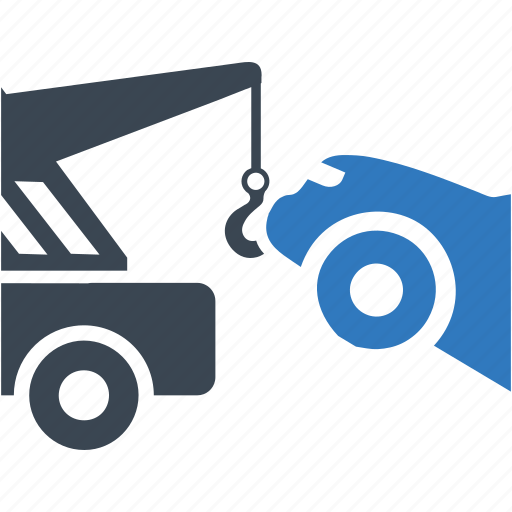 car, tow, tow truck, vehicle icon