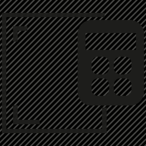 calculator, document icon