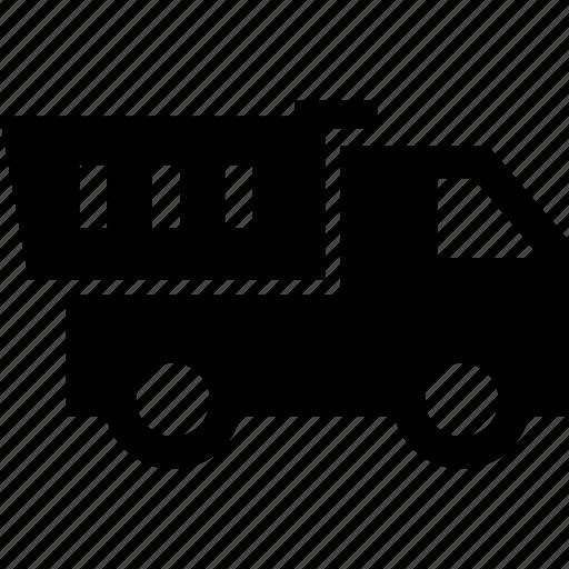 dump truck, dumper, tipper, truck icon