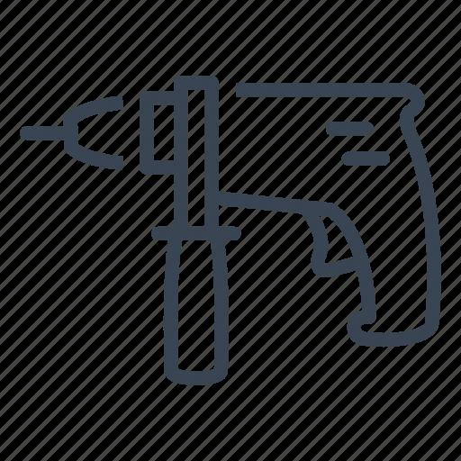 construction, drill, equipment, tool icon