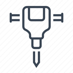 construction, equipment, jackhammer, tool icon