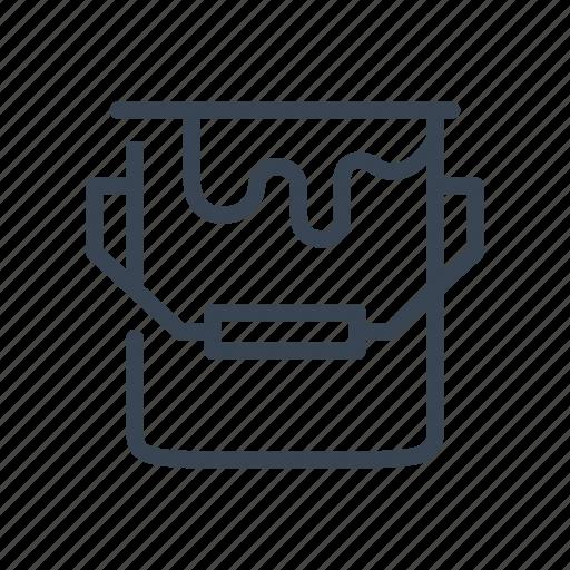 bucket, color, paint, pot icon