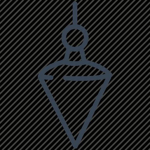 bob, construction, line, plumb, tool icon