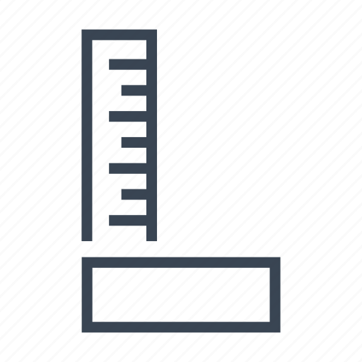 construction, ruler, set, square, tool icon