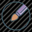 art, artist, brush, circle, paint, tool icon