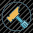 circle, construction, fix, hammer, nail, repair, tool icon