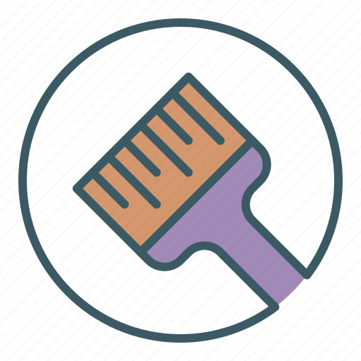 brush, circle, home, paint, painting, tool icon