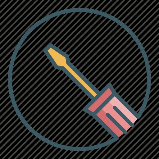 circle, fix, repair, screwdriver, tool icon