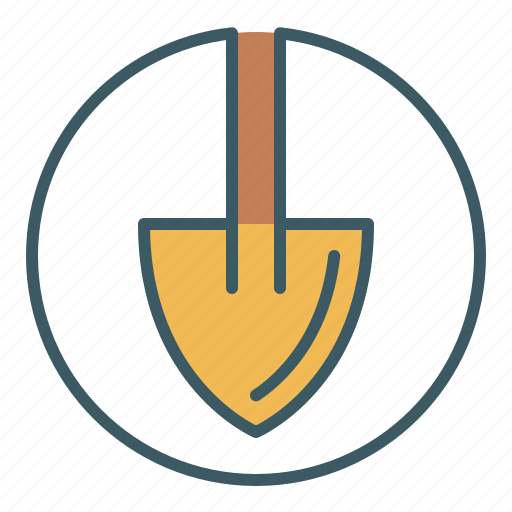 Circle, dig, gardening, shovel, tool icon - Download on Iconfinder