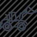 backhoe, bulldozer, construction, machine, vehicle