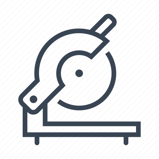 circular, construction, equipment, saw, tool icon