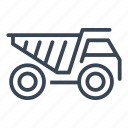 construction, dump, machine, truck, vehicle icon
