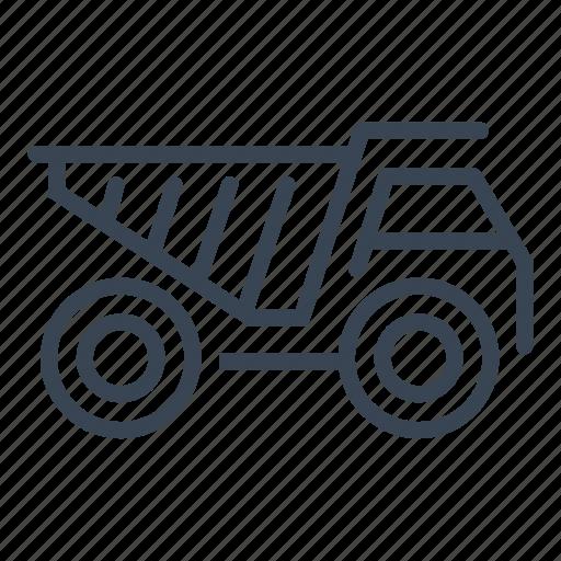 construction, dump, machine, truck, vehicle icon