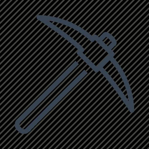 construction, equipment, pickaxe, tool icon