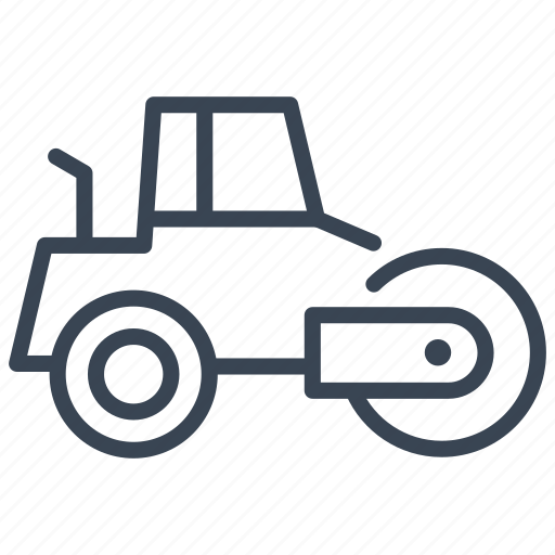 compactor, construction, road, roller, steam, steamroller icon