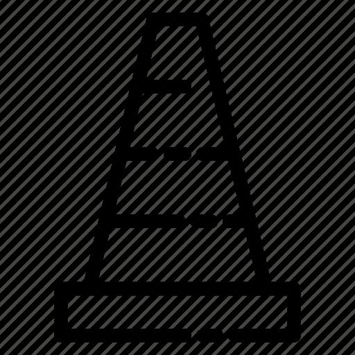 building, cone, construcion, real estate, safety, tools icon